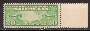USA Stamp 1927 Scott # C9 Air Mail Green 20 Cents MNH OG VF Margin