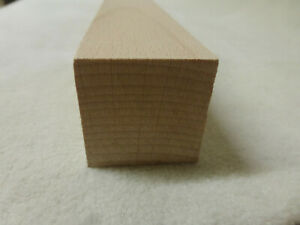 (11.13)  1Stk in 100cm Quadratleiste Buche 40x40mm Vierkant Holzleisten
