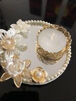 Stunning Mirror Pearls Wedding Centre Pieces-High quality/Handmade/pearls