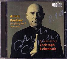 Christoph Eschenbach signé Bruckner Symphony No. 4 Romantic CD Symphonie Nowak
