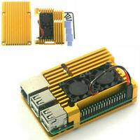 Für Raspberry Pi 3 Model 3B 3B+ Aluminium Gehäuse Hülle Case Cover Kühlerlüfter