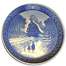 "1973 Royal Copenhagen Christmas Plate. ""Train Homeward Bound"""