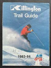 Killington VERMONT SKI TRAIL MAP 1983-1984 * Vintage