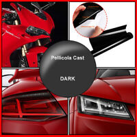 Pellicola Adesiva Fari Stop Autovetture Moto 50X100 cm Dark Nero Scuro Black FL