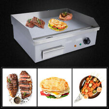 Commercial 3000w Electric Griddle Cooktop Flat Top Plate Restaurant Grill Bbq Us