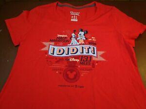 2016 Disneyland Half Marathon 13.1 Miles I DID IT Red T-Shirt Womens  Large  K7