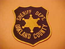 OAKLAND  COUNTY MICHIGAN POLICE PATCH NEW SHOULDER SIZE