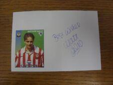 1996/1997 Tarjeta Autografiada Blanco: Southampton-Oakley, Matthew (la etiqueta engomada puso D