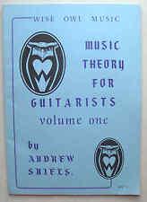 Music Theory pour guitaristes Andrew Shiels Wise Owl music 1984 Wom 762 très bon état