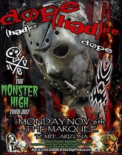 "Dope /(Hed)P.E. ""Monster High Tour 2017"" Phoenix Concert Poster-Nu/Rap/Alt Metal"