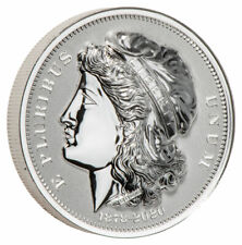 1878-2020 Morgan's Gold Eagle Uhr 2 oz Silver Reverse Proof Medal Sku60750