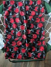 Hockey Flannel Pillowcase Black and Red