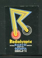 Great Britain GB Poster Stamp Radiolympia Radio Olympia Graphic Design