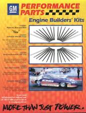 Kurt Johnson GM Engine Builder's Kit Chevy Camaro Pro Stock NHRA flyer handout