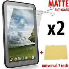 "x2 FILM PROTEGE ECRAN DISPLAY SCREEN PROTECTOR UNIVERSAL MATE ANTI GLARE 7"" inch"