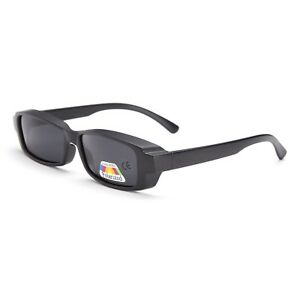 Mens Ladies Fit Over Sunglasses Shades Polarised Matte Black Ski Drive Fish