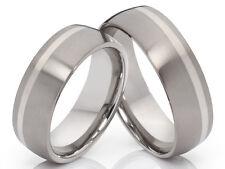 2 anillos de Titanio Boda Compromiso PAREJA CON GRABADO