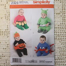 Simplicity 2323 Baby Costume Patterns 4 looks XS-S-M-L