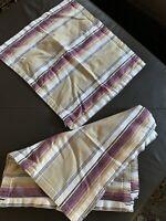 Set Of 8 William Sonoma Striped Dinner Napkins 22x22