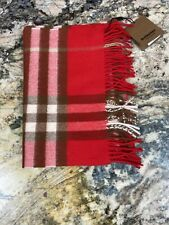 Burberry Giant Check Cashmere Scarf, $430, Brand New With Tags.