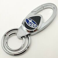 Subaru car metal keyring key safe fob case cover badge holder chain tags