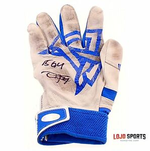 💥Dexter Fowler💥 Cubs Signed Game Used Glove 2016 World Series Autograph —LOJO
