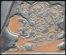 Letterpress Copper Plated Photo Engraving Bcs Cobb Shinn Man Cash Register