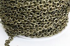15ft Rolo Antique Bronze 6.5mm Cable Chain links1-3 day Shipping
