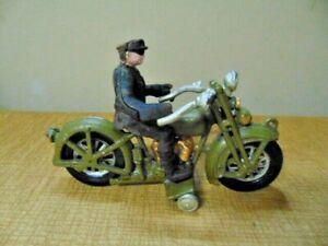 S142 VINTAGE CAST IRON XONEX HARLEY DAVIDSON MOTORCYCLE POLICEMAN
