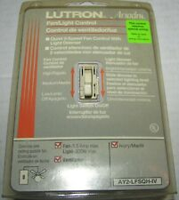 NEW Lutron Dimmer Switch AY2-LFSQH-IV Ivory Fan/light Dimmer Switch
