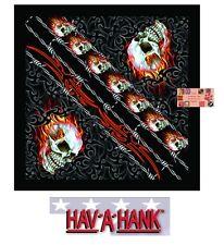 SKULL Tribal Tattoo Fire Flame Barb Wire Bandana BANDANNA SCARF Scarve Head Wrap