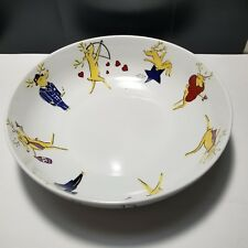 "Pottery Barn REINDEER 14"" Large Salad Serving Bowl"