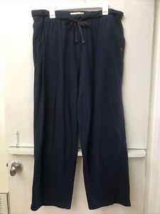 Tommy Bahama Men Soft Pajama Lounge Pants Elastic Waist Size Extra Large XL Blue