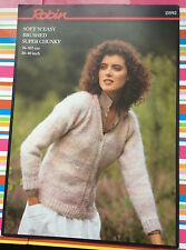 V Neck Raglan Cardigan - Super Chunky Knitting Pattern - Robin 13592 Original