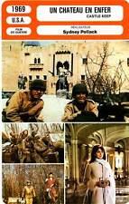 FICHE CINEMA : UN CHATEAU EN ENFER - Lancaster,O'Neal,Pollack 1969 Castle Keep
