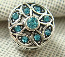 hot European Silver CZ Charm Beads Fit sterling 925 Necklace Bracelet Chain hpk8
