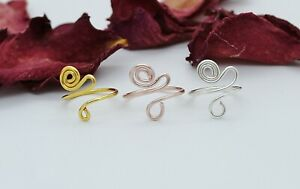 Adjustable Toe Rings Choose Your Finish Rose Gold-Silver or Gold Plated