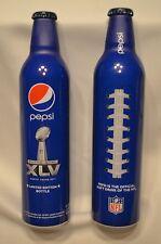 Super Bowl XLV 16 oz. aluminum Pepsi bottle