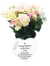 Grave Ornaments Nan Flowers Pot In Loving Memory Stone Graveside Memorial Plaque