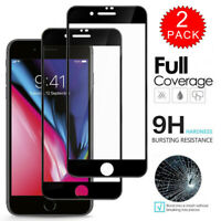 For iPhone 8 7 6S 6 Plus - FULL COVER 9D Tempered Glass Screen Protector 2-Pack