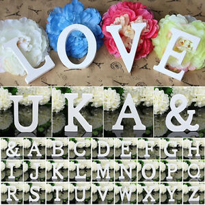 Large Wooden Wood Birthday Wedding Alphabet 26 Letters Home Wall Hanging Decors