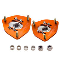 2x For Nissan S13 S14 Silvia 180SX 200SX 240SX Coilover Camber Plates Top Mount