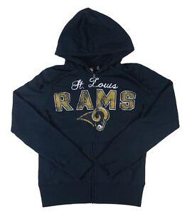 NFL Team Apparel - NWT St. Louis Rams Navy Hoodie Sweatshirt - Women's L