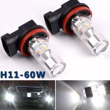 2 Stück Weiß H11 H8 2323 60W Auto LED Nebel Fahrlicht Lampe Birnen Lichter NEU