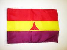 INTERNATIONAL BRIGADES SPANISH REPUBLIC FLAG 18'' x 12'' cords - SPAIN REPUBLICA