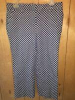Rafaella Blue Size 8 Cropped Capri Pants