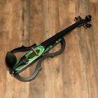 Geneva GVE-N029 Green Swirl Electric Violin Outfit for sale