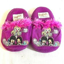Bratz Dolls Purple and Pink Little Girl House Shoes Size 9-10 K01