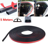 5M Car Truck Door Big D-shape Black Rubber Seal Weather Strip OEM Hollow B-Shape