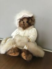 """Bearington Collection Bears Fancy White Coat With Muff 15"""""""